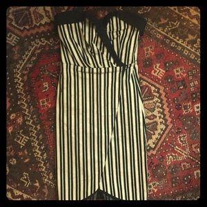 Anthropology, Eva Franco striped strapless dress